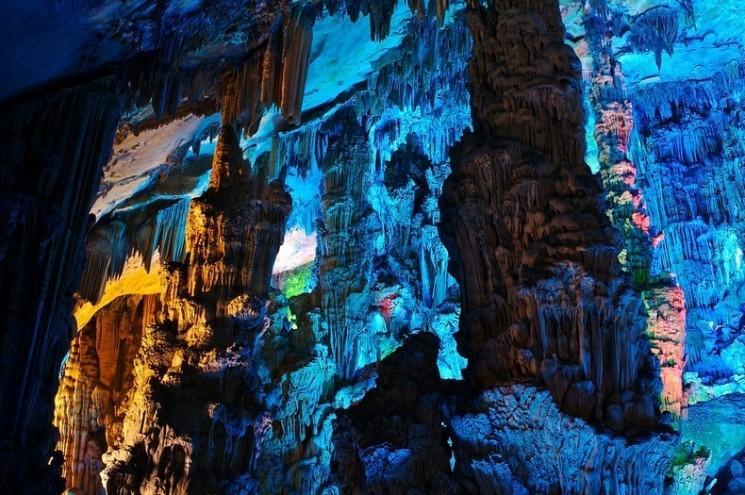 Reed Flute Cave à Guilin, en Chine