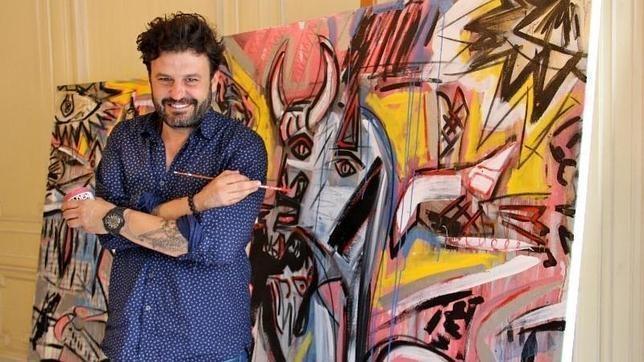 Domingo Zapata, hispano-américaine contemporaine Artiste, Créer Installation de drapeau américain pour World Trade Center