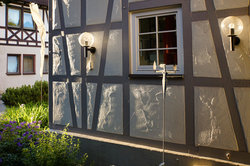 RAL 7038 envoyé comme un élément de la couleur de la façade et utilisé individuellement