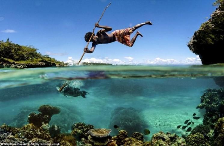 Les pêcheurs acrobatiques de Nouvelle-Calédonie