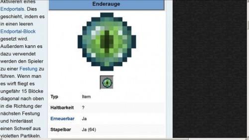 Utilisez Ender oeil dans Minecraft - Comment ça marche?