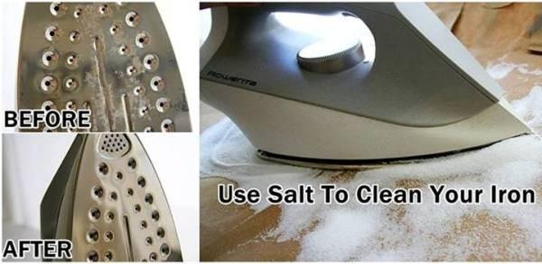 comment nettoyer votre fer avec sel. Black Bedroom Furniture Sets. Home Design Ideas